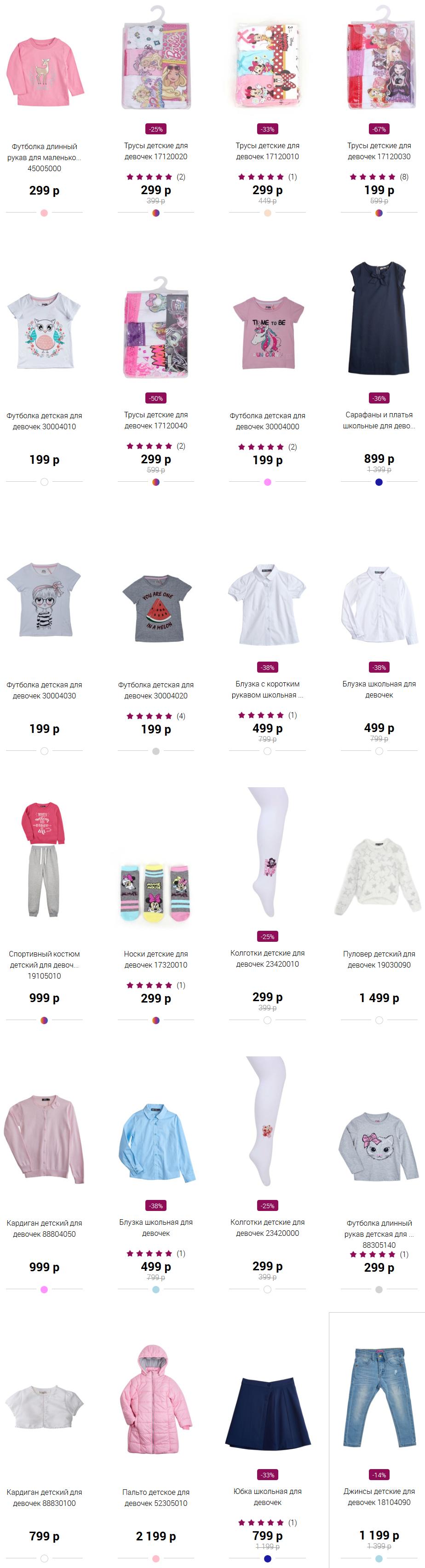 Каталог одежды для девочек Кари